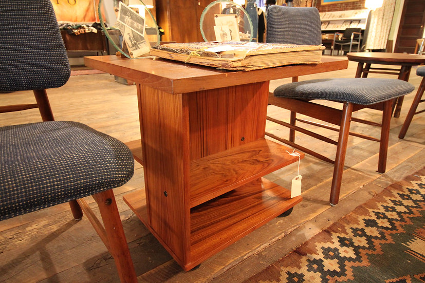 Mid-Century Rolling Side Table