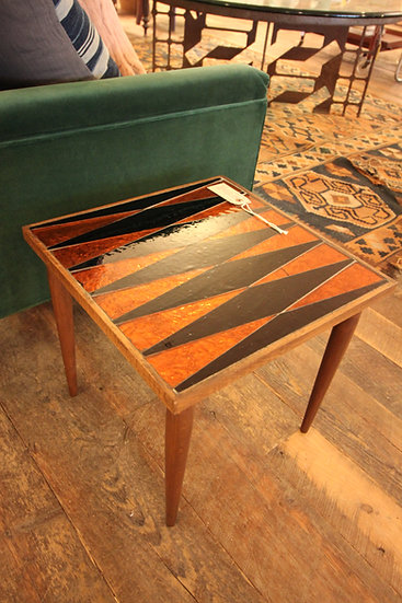 SOLD - Stained Glass Top Table