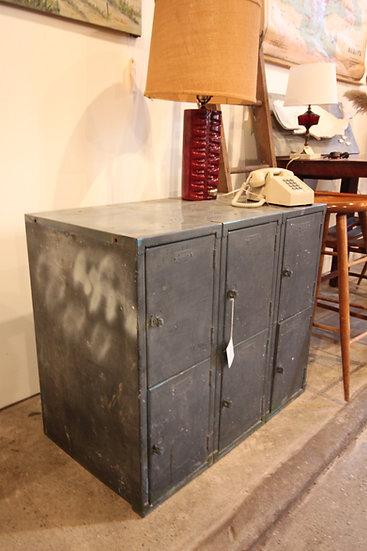 Vintage Three-Over-Three Lockers