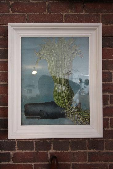 Pair Mixed Media Sea Life Art