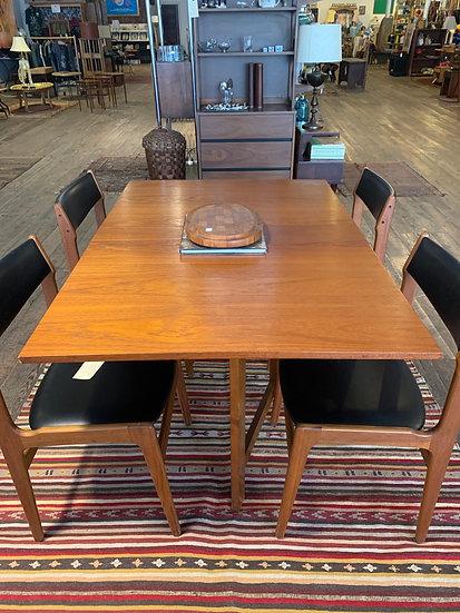 Mid-Century Drop-Leaf Dining Table