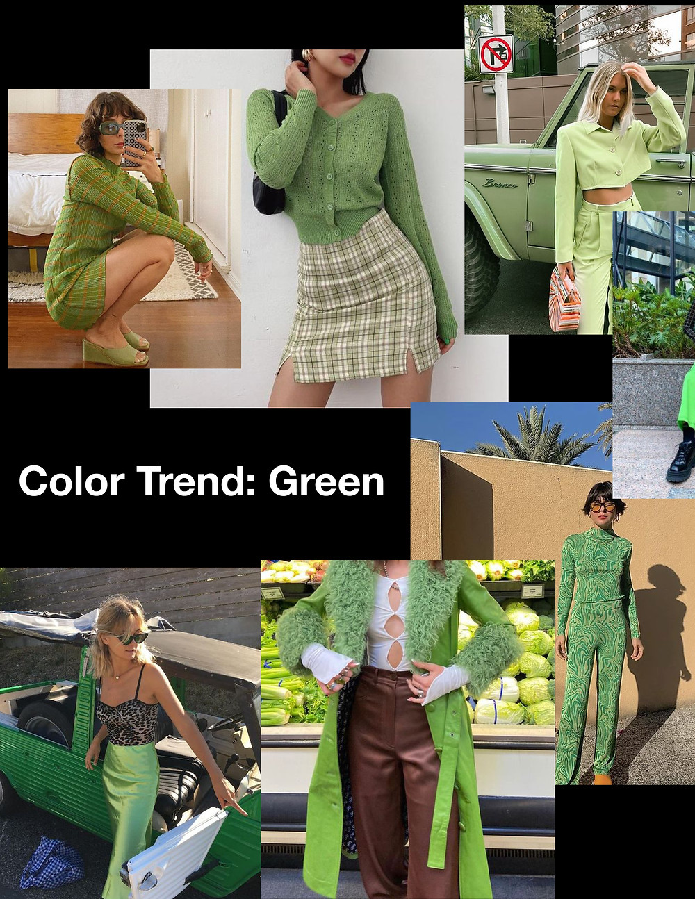 fashion trends for summer 2021, green outfits, shopping guide, stylist advice