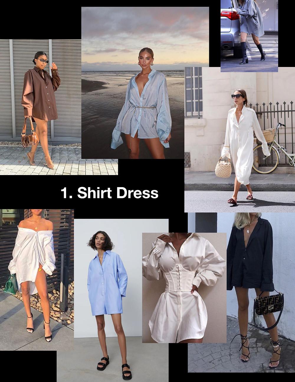 summer dresses 2021, style tips, fashion, shopping, trends, shirt dress, oversize, corset