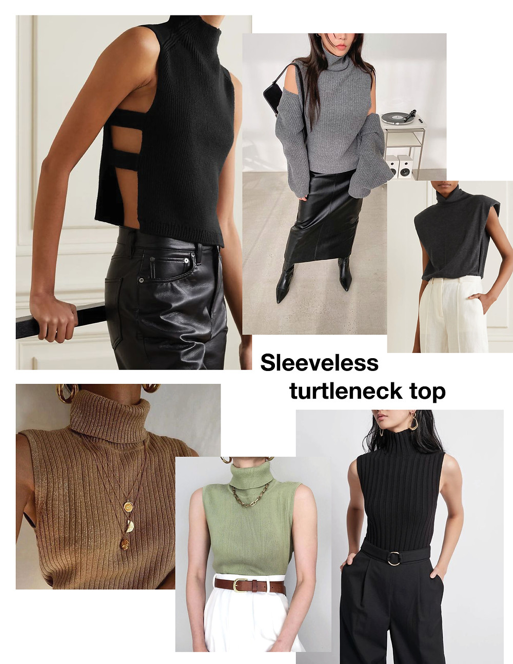 Sleeveless turtleneck top, must have, shopping