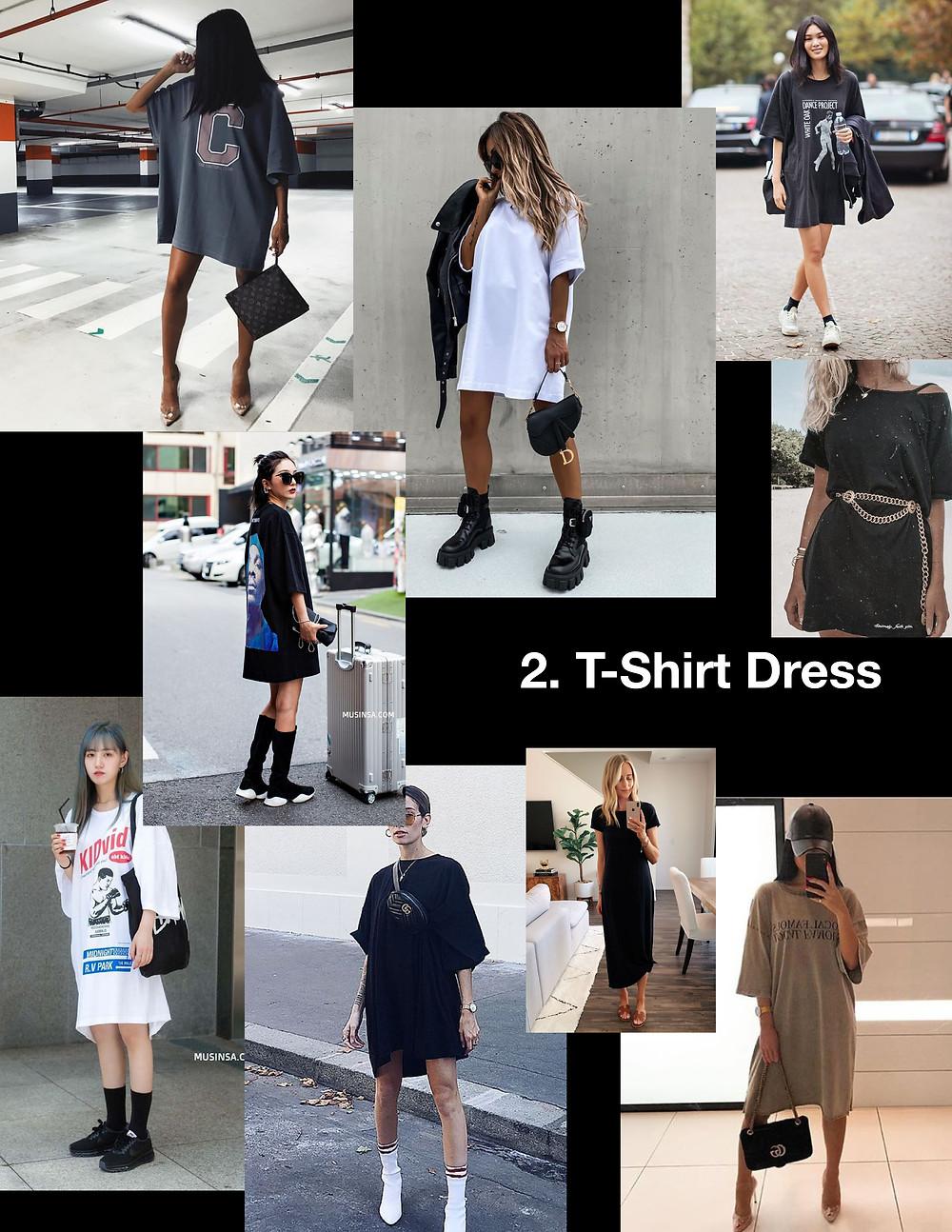 summer dresses 2021, style tips, fashion, shopping, trends, t-shirt dress, oversize, grunge