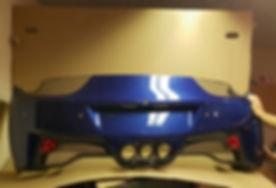 ferrari italia parechoc arriere bleu f45