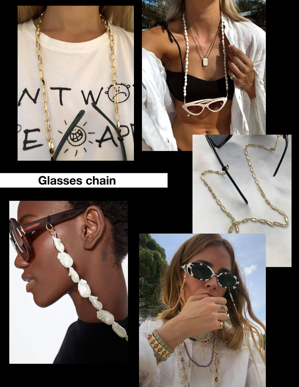 Sunglasses, glasses chain, trends, summer, fashion, style, stylist, shopping