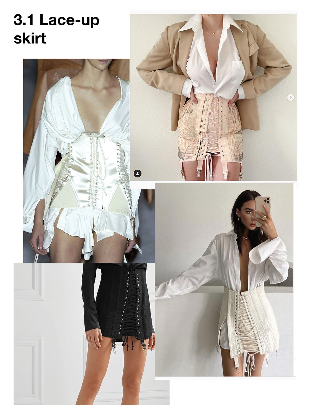 Fashion, Style, trendy tops for summer 2021, vintage corset outfit, lace-up skirt