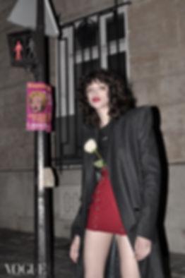 editorial night paris rose