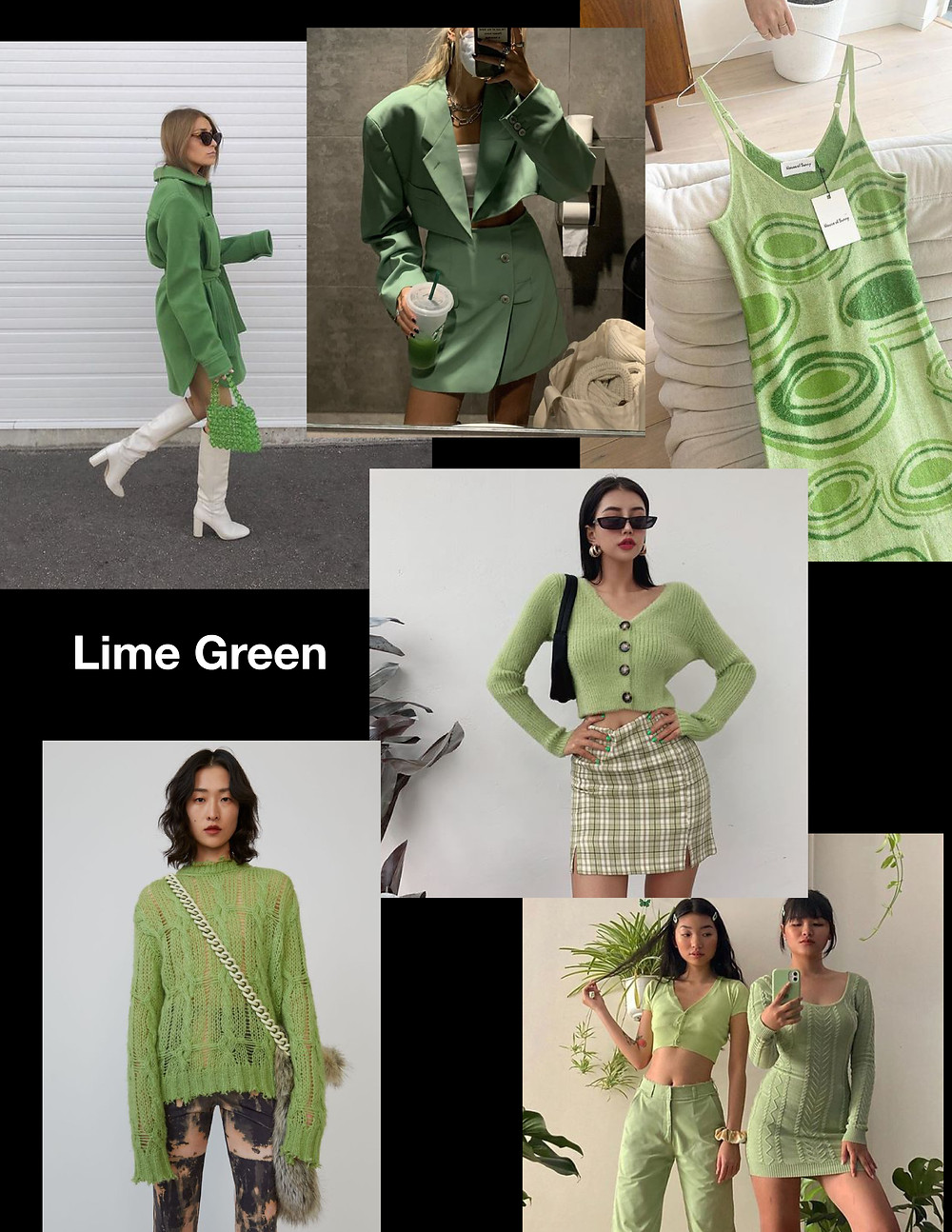 fashion trends for summer 2021, green outfits, shopping guide, stylist advice, lime green outfits