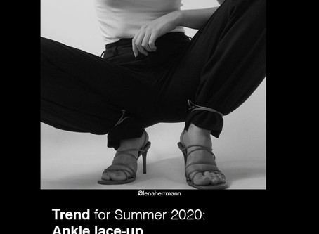 Trends for Summer 2020: Ankle lace-up