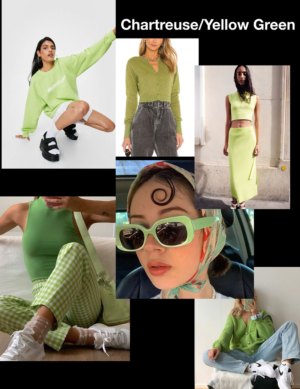 fashion trends for summer 2021, green outfits, shopping guide, stylist advice, chartreuse fashion, yellow green outfits