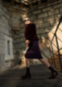 purple editorial fashion