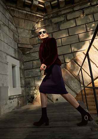 purple editorial fashion