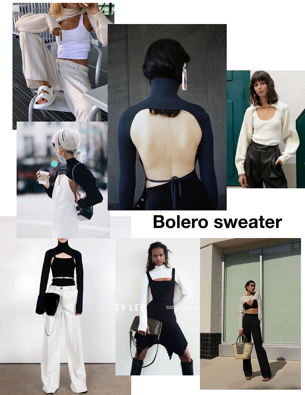 Fashion trend, how to style, to buy, Bolero sweater, knits, shopping
