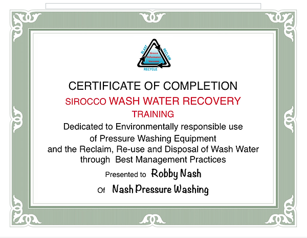 WATER RECOVERY CERTIFIED