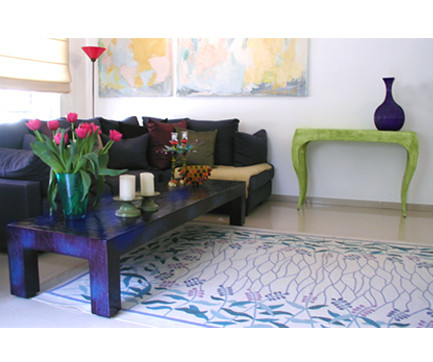 """""""Spring"""" Coffee Table and """"Console"""" in Green"""
