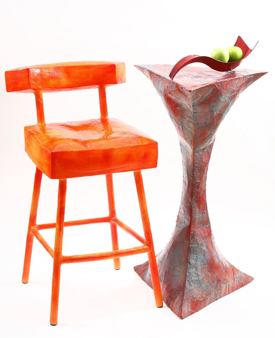 """""""Bar"""" Chair and High Table"""