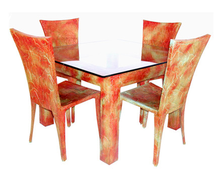 Square dining tabe and chairs