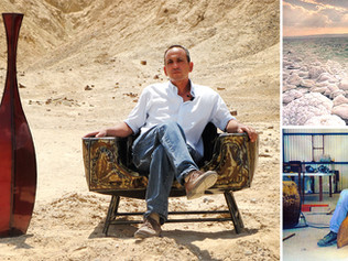 ים המלח הכחול ונופי המדבר הלבנים