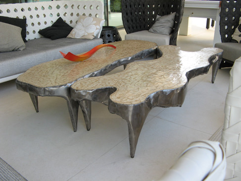 """Rock coffe tables """"H"""" and """"L"""" shapes"""