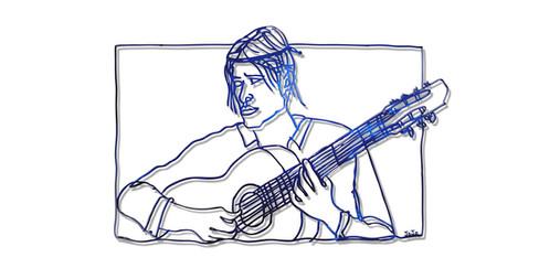 """Guitar-palyer"""
