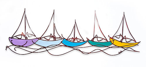 """Sailboats"" Colorful"