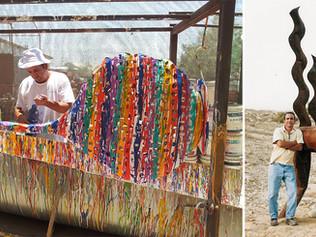 פסלים על ידי האמן ג'וג'ו בים המלח