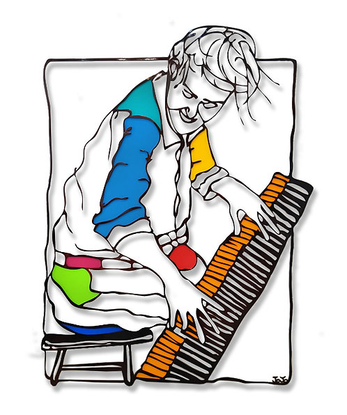 """""""Pianist"""" (Colorful)"""