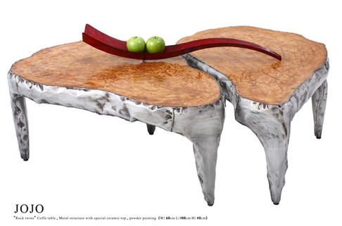 """Rock"" Coffe Table Twins"