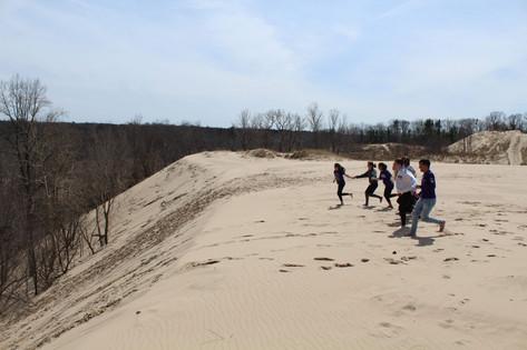 Conquering the dunes!
