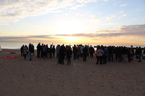 Easter Sunrise Service at Clark Street Beach