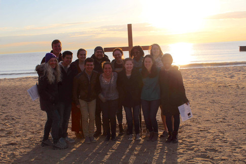 UCM students at Easter Sunrise Service