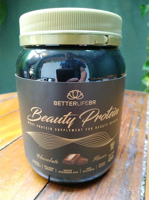 Beauty Protein Chocolate Colágeno, Ácido Hialurônico 450g - Betterlife