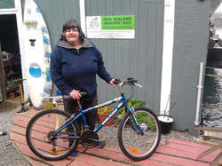 Very happy owner of one of our free bikes