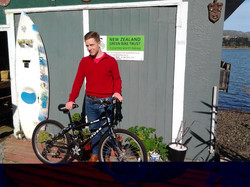 Simon from Red Cross picked a bike for Juan whose 12years up today