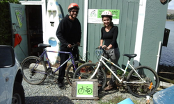 couple from Brazil recently picked up their koha bikes