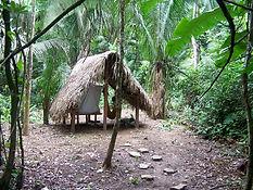 Tambo, eine Hütte mit Dach aus Palmenblättern