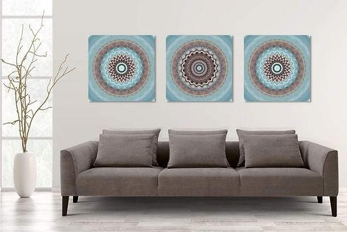 תמונות לסלון, שלישיית תמונות, תמונה מעל ספה