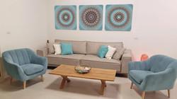 תמונות לסלון, שלישיית תמונות טורקיז