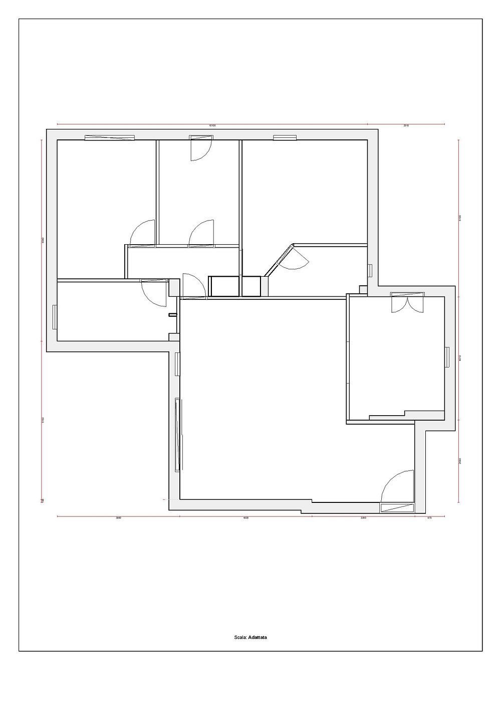 planimetria appartamento su due piani