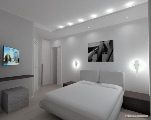 Camera da letto con ribassamento
