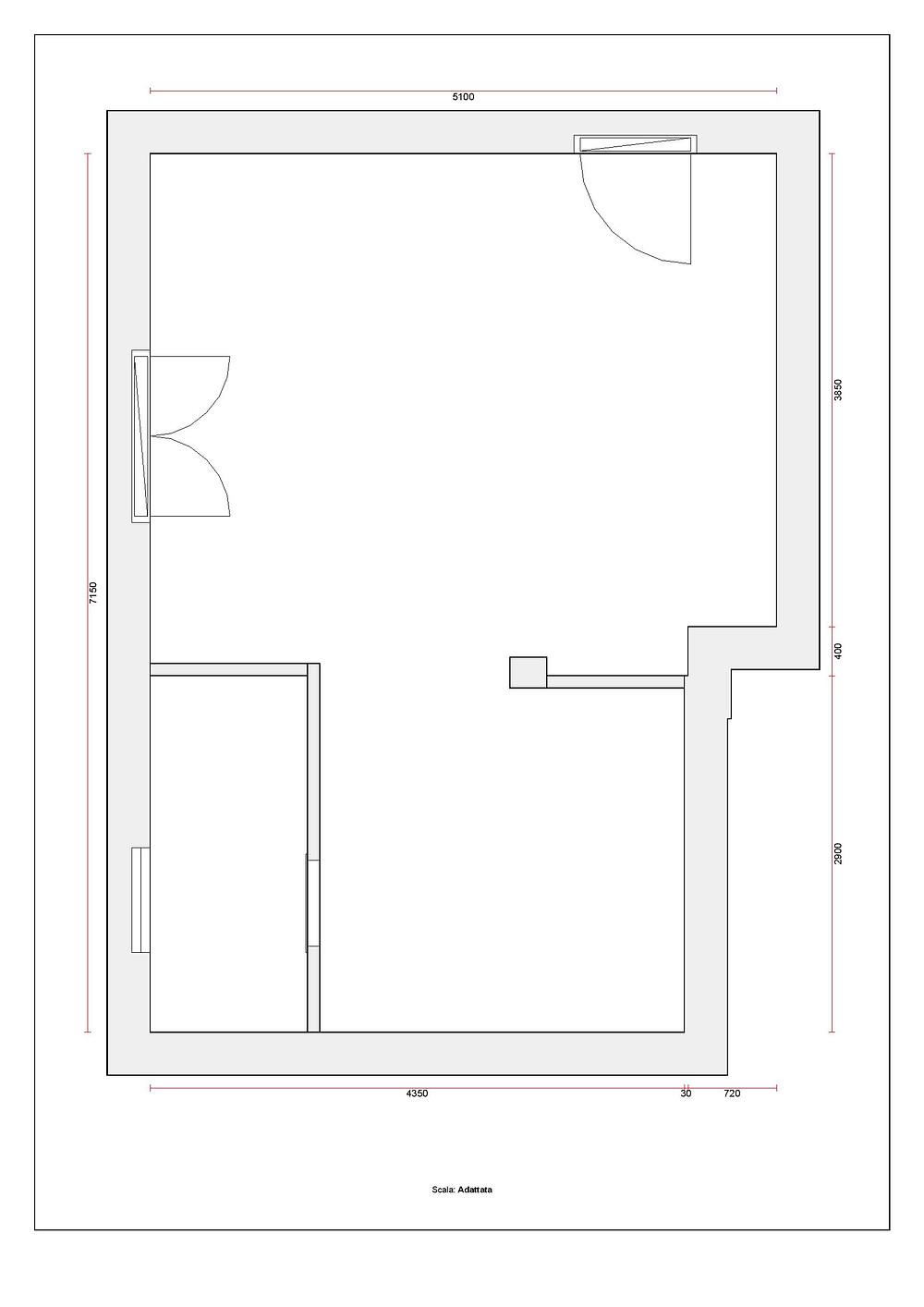 planimetria appartamento piano rialzato