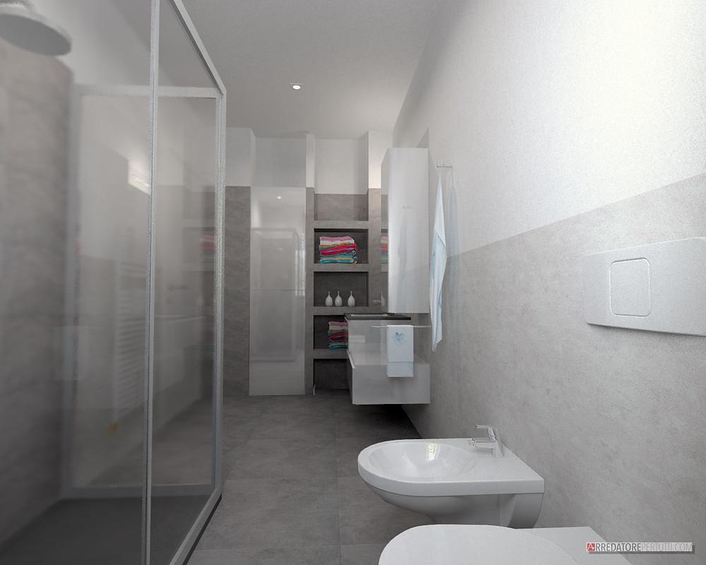 bagno moderno con nicchia
