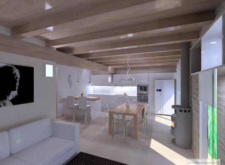 Due case speculari ma con disposizioni diverse: il progetto.