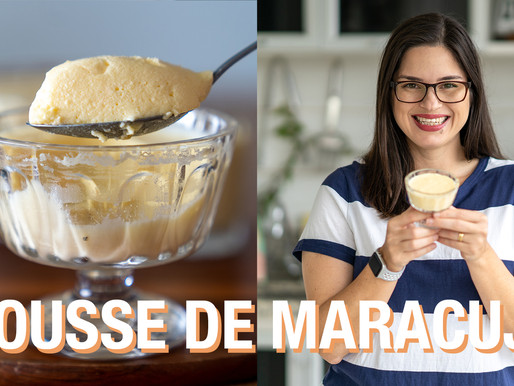MOUSSE DE MARACUJÁ LOW CARB