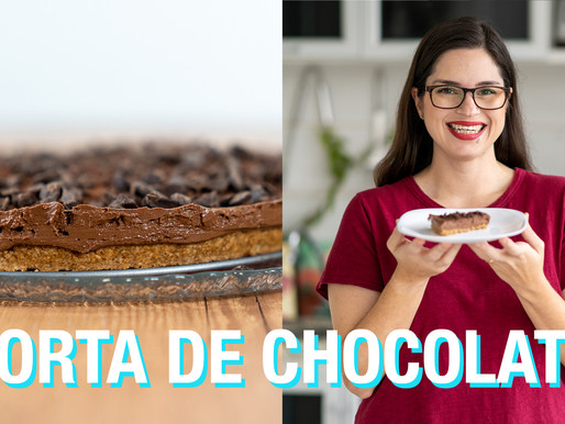 TORTA MOUSSE DE CHOCOLATE AMARGO LOW CARB