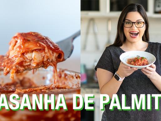 LASANHA DE PALMITO COM 5 QUEIJOS