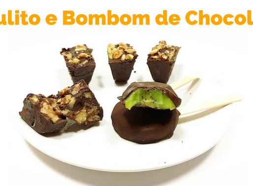 Pirulito e Bombom de Chocolate com Fruta