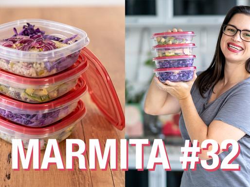 MARMITA #32 Peixe, arroz integral, repolho e abobrinha